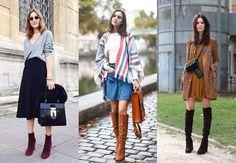 Alerta de tendência: como combinar botas de veludo - Blog da Cris Feu