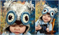 Frosty Owl Hat with Ear Flaps for Boy or Girl  made to by IraRott, $35.00.....I love this....I wonder if I could get this for ME!!!  TOO CUTE!!!