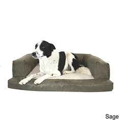 Dog Bed and Couch Baxter Orthopedicfoam luxurious comfort guaranteed Large Sage >>> For more information, visit image link.