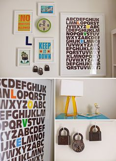 Cute moder nursery, including this wall display