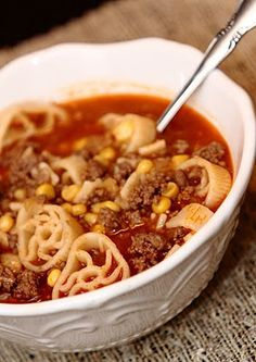 Hamburger Soup. Try in the fall!