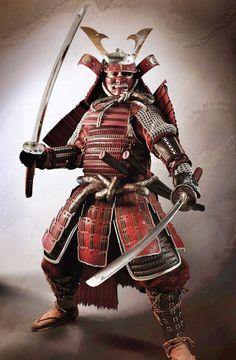 an armed Samurai Warrior / 武士 Bushi ( 侍 Samurai ) Ronin Samurai, Samurai Swords, Samurai Warrior, Real Samurai, Geisha, Samurai Tattoo, Demon Tattoo, 3d Fantasy, Fantasy Armor