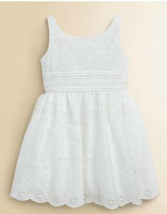 Rosalina White Eyelet Lace Yoke Dress - Infant, Toddler & Girls ...