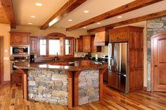 Timberframe Kitchen - Kitchen Design Pictures | Pictures Of Kitchens | Kitchen Cabinet Ideas | Cabinetry Gallery