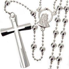 Collana rosario argento 4 mm | vendita online su HOLYART