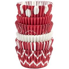 Wilton 415-1832 150-Pack Candycane Baking Cups, Mini