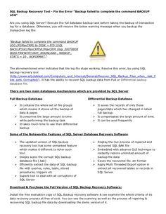 restore-backup-sql-data by pdffilesubmit via Slideshare