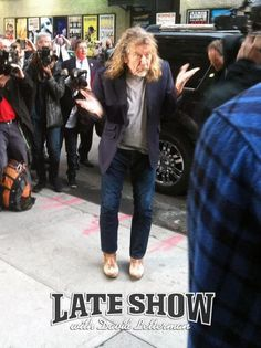 Robert Plant arriving for David Letterman's show, Dec. 2012, NYC