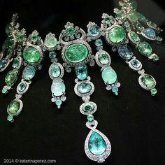 Just look at all those Paraiba's! repost from @katerina_perez #GiampieroBodino tourmaline and diamond choker