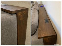 Behind the Couch Console Table Plans, Couch table Furniture Projects, Home Projects, Geek Furniture, Modern Furniture, Furniture Design, Diy Furniture Easy, Farmhouse Furniture, Furniture Storage, Diy Storage Couch