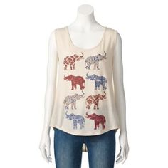 About A Girl High-Low Elephant Tank - Juniors #Kohls