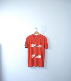 Vintage 70's red Maaco mechanic shirt graphic tee red by manorborn