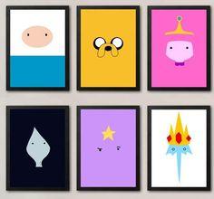 Adventure Time Minimalistic Poster Set