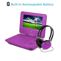 Amazon.com: DVD Player, Ematic 7 inch Purple Portable DVD Player with Matching Headphones and Bag [ EPD707PR ]: Electronics