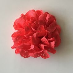 """ONE 3""""  Large Coral Eyelet Fabric Flower-Applique-hairbow supplies-diy wedding-crafts-scrapbook-headband supplies-wholesale Flowers-Bulk by BBBSupply on Etsy"""