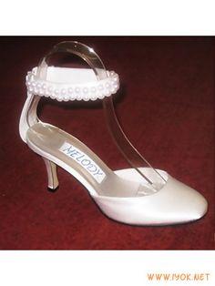 RomanticWhite3.5''AnkleStrapBeadedSatinBridalShoe20...