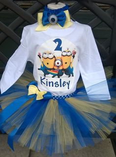 Birthday outfit Despicable Me Minions vinyl by ForYouWithLuv