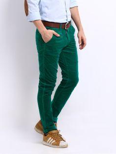 U.S. Polo Assn. Men Dark Green Slim Fit Chino Trousers | Myntra ...
