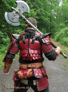 Dwarf armor-red leather back