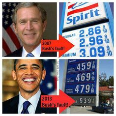 gas prices... wtf are people that stupid? All the dems bitched that it was too high when bush was president and now it's DOUBLED and all u hear are crickets.....?????