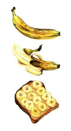 banana sandwich by sal mills | sketch book | Pinterest