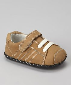 Take a look at this Light Brown Mini Jake Sneaker by pediped on #zulily today!