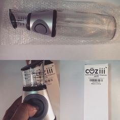 I love this oil dispenser from #coziii. I really wanted a dual oil and vinegar bottle but I saw this and loved the top of it.  I had seen these around before but never thought about getting one until now. The bottom of the bottle is glass. It easily opens so you can pour your oil inside.  The buttons on each side are made of rubber and very soft to press.  It makes the straw suck up the oil into the spout. In the spout there is a small measuring cup and that's where the oil sits once it's…