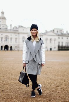 Vogue Style Spy: Keeping Warm in London in Antipodium #nike #nikeroshe #celine