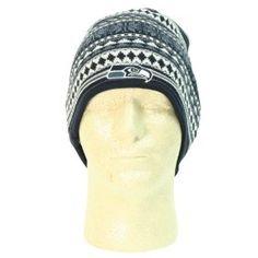 """Seattle Seahawks """"Snowflake"""" Winter Knit Hat - Navy"""