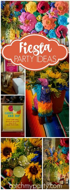 What an amazing outdoor fiesta party! See more party ideas at CatchMyParty.com!