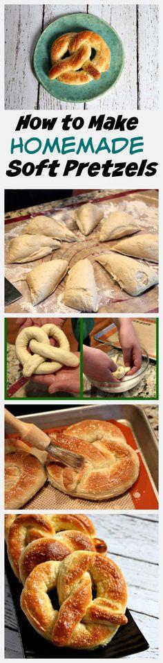 How to Make Homemade Soft Pretzels - easy, step-by-step #recipe and photo tutorial.