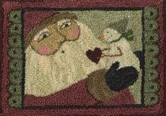 Santa and Snowman Punchneedle Pattern by Teresa Kogut