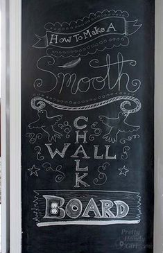 How to make a SMOOTH chalkboard wall {for imperfect walls} from @Brittany (aka Pretty Handy Girl)