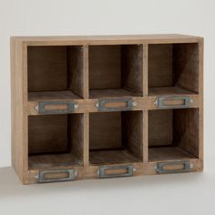One of my favorite discoveries at WorldMarket.com: Natural Owen Desk Cubby