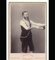 In the 1860s, a photographer named Charles Eisenmann photographed thousands of circus freaks.    Elasticman: