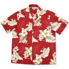 [[start tab]] DESCRIPTION No wonder Hawaiian shirts are an island favorite, it's been popular since the 1940's. The tradition of aloha is carried through in our vibrant tropical prints, inspired by th