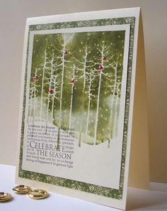 hero arts winter trees stamp - Google Search