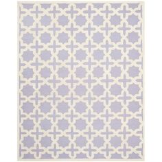 @Overstock - Hand-tufted of a 100-percent wool pile, this handmade wool rug features a special high-low construction to add depth and unusual detailing.http://www.overstock.com/Home-Garden/Safavieh-Handmade-Cambridge-Moroccan-Lavender-Wool-Rug-6-x-9/7745658/product.html?CID=214117 $274.99