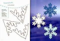 recortables copos de nieve - Cerca amb Google