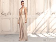The Sims Resource: Selene Dress by SLYD • Sims 4 Downloads