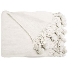 Ally Pom Pom Throw ($43) ❤ liked on Polyvore featuring home, bed & bath, bedding, blankets, filler, pom pom bedding, pom pom throw, pom pom blankets and pom pom throw blanket