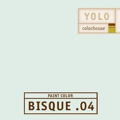 YOLO Colorhouse BISQUE .04 - A crisp winter breeze.  White with blue undertones- this color whispers softly in bedrooms and baths.
