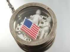 Honor & Pride Military Soldier Necklace Frozen Charlotte Charm Pendant Assemblage Locket Original. $39.00, via Etsy.