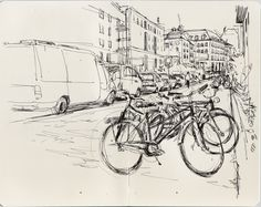 See how b/w can also be awesome!  Urban Sketchers Switzerland: Hello fellow sketchers