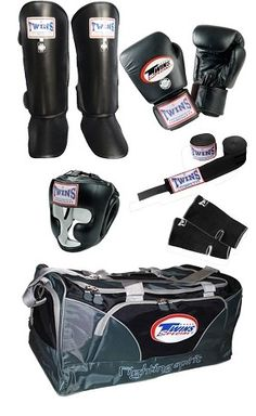 Twins sparing set #http://pinterest.com/savate1/boards/ Discount on equipment for fighter and box for fitness
