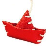 BARCHETTA - Toy Boat Italian Leather Key Chain