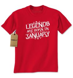 Legends Are Born In January Mens T-shirt