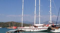 Fethiye Marina by the district of Muğla Province in the Aegean region of Turkey