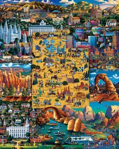 Best of Utah Americana Folk Art Jigsaw Puzzle