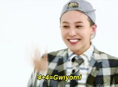 gdragon doing gwiyomi on weekly idol ∞ ©